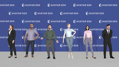 Each full body avatar comes with a choice of 6 outfits. Once an avatar is created, these outfits are adjusted to fit the specific body shape. The business, business casual and casual outfit styles are appropriate for any environment.